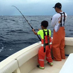 Father and Son Fishing in Islamorada